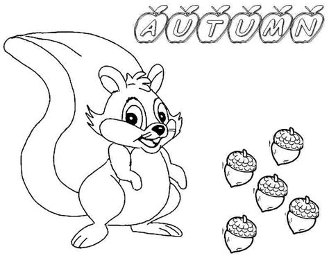 autumn animals coloring page fall coloring pages free printable coloring home