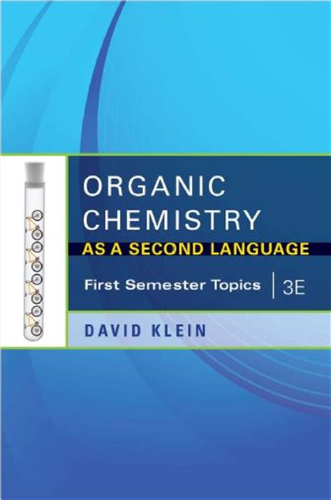 Pdf Organic Chemistry As Second Language by Free Organic Chemistry As A Second Language 1st