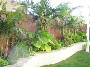 Tropical Backyard Landscaping Ideas Screen Lower House Blockwork Tropical Landscaping Garden Inspiration Gardens