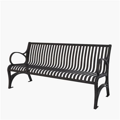 wrought iron bench 3d bench wrought iron model