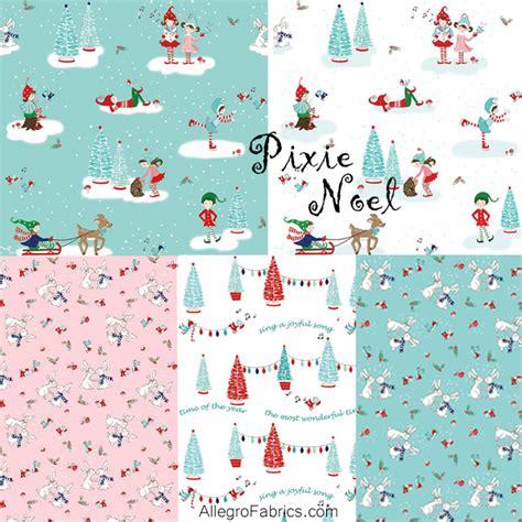 fabric elf pattern pixie noel riley blake elf christmas holiday fabric snowy