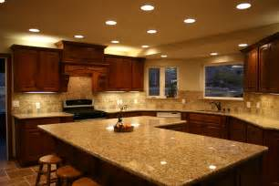 Kitchen countertops with marble in white color good lighting in design