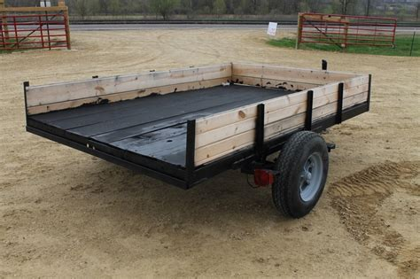 utility trailer with mobile home axle