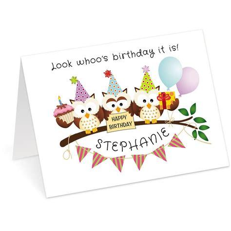 make an birthday card owl trio birthday create a card current catalog