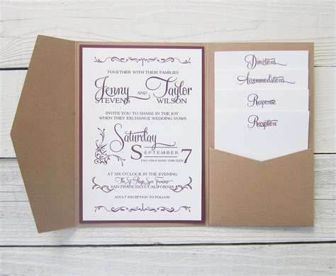 free sle pocket wedding invitations how to make pocket invitations a simple guide