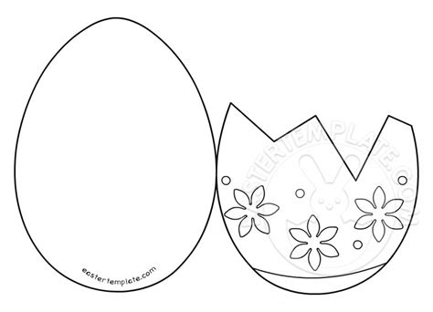 easter templates cracked egg coloring page coloring pages
