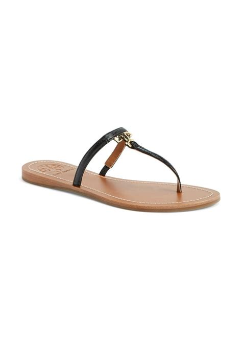burch sandals sale burch burch t logo leather sandal