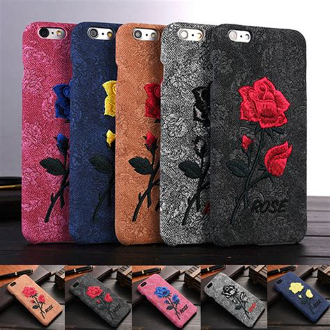 Casing Slim Luxury Plating Flower Iphone 6 6s Cover Softcase luxury 3d for iphone 6 6s plus flower pattern cloth back cover for