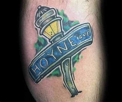 street sign tattoo designs 30 sign ideas for navigational designs