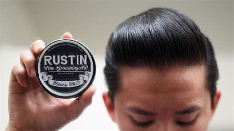 Rustin Classic Hold Pomade rustin heavy hold pomade review the pomp