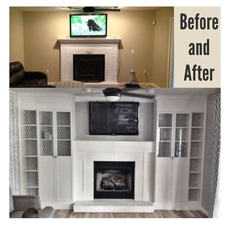 ikea bookcases around fireplace diy fireplace built ins 4 ikea billy bookcases