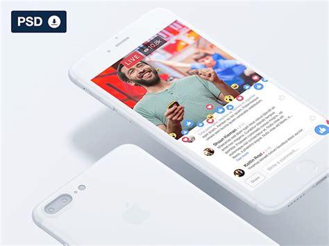 layout iphone psd 25 free social media mockups instagram facebook