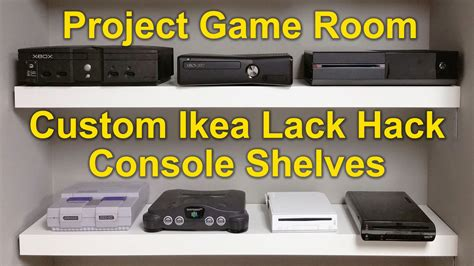 ikea game room project game room vlog 02 custom ikea lack hack youtube
