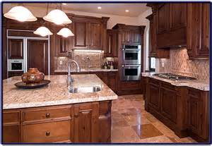 Home Built Kitchen Cabinets Custom Kitchen Built With Travertine Tile And Solid