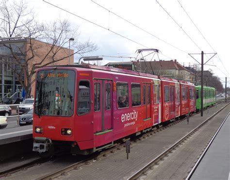 2 Wagen Des Typs Tw 6000 Als Linie 2 Alte Heide An Der