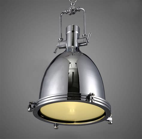 Modern Hanging Ceiling Lights New Modern Industrial Retro Nautical Chrome Pendant L Hanging Ceiling Light Ebay