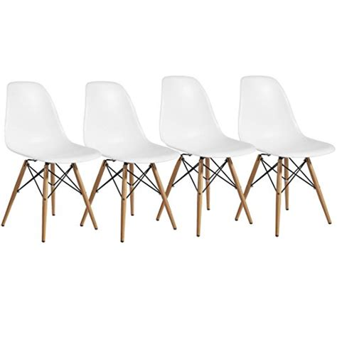 Wood Dining Room Chairs Best Price 2xhome Set Of Four 4 White Eames Style Side Chair Wood Legs Eiffel Dining Room