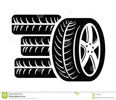 tyre icon stock vector illustration  radial symbol