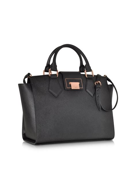Tote Bag Hermes Kd 1013 vivienne westwood black opio saffiano leather handbag in