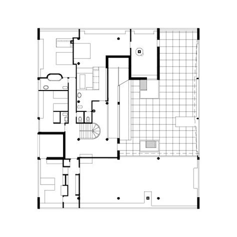 villa savoye floor plan dwg villa savoye second floor plan homes pinterest le
