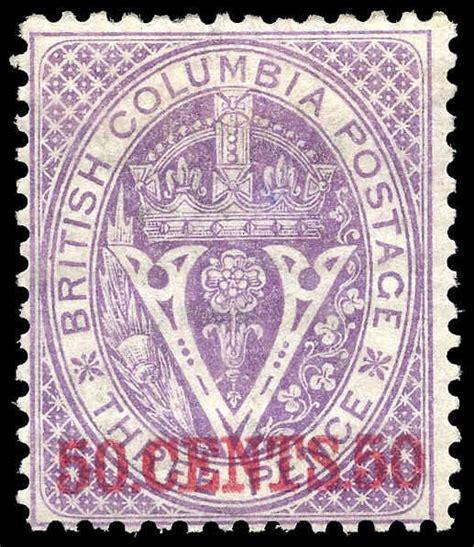 libro vancouver island itm r v british columbia 12 surcharge 1867 50 162 on 3d mint fine original gum m fog 005