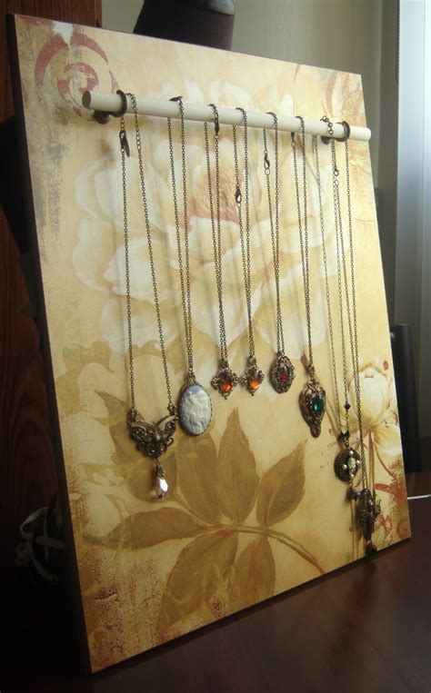 diy jewelry display peacock tres chic diy jewelry display made with wood and