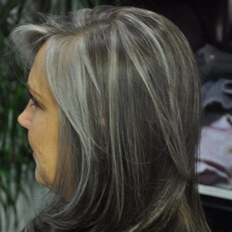 salt and pepper hair with highlights google search salt and pepper hair with brown lowlights lowlights to