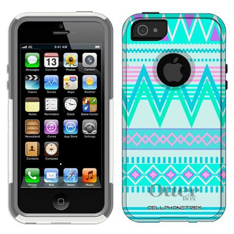 Iphone 5 5s Hw 03 Aztec Tribal Pattern Retro Plastic otterbox commuter series aztec andes tribal white and teal