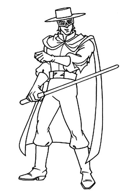 coloring pages zorro zorro coloring pages 9