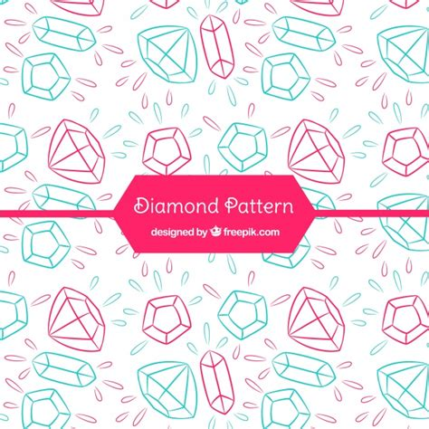 diamond pattern vector ai hand drawn diamond pattern vector free download