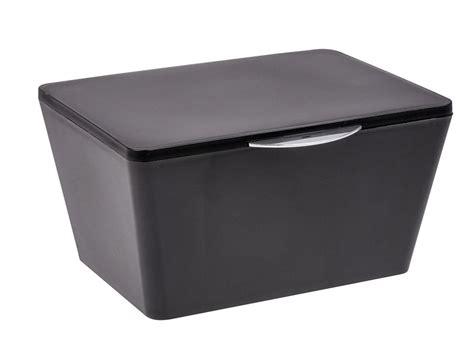 bathroom storage boxes with lids wenko brasil black bathroom storage box with lid 22597100