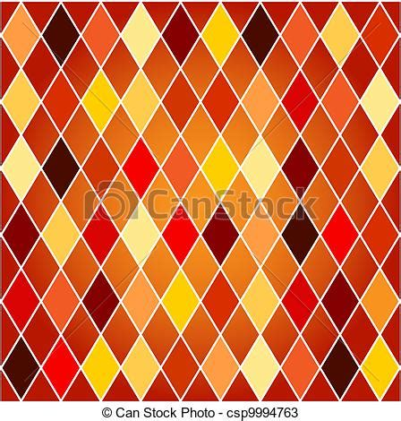 drawing harlequin pattern vectors of seamless harlequin pattern orange and red tones