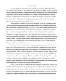 Speech Essay Exles by Informative Speech Essay Exles