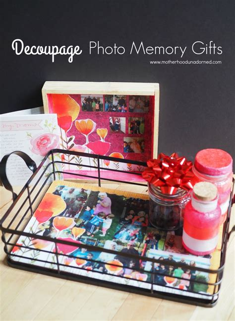 Decoupage Gifts - get in the photos s day decoupage memory gifts