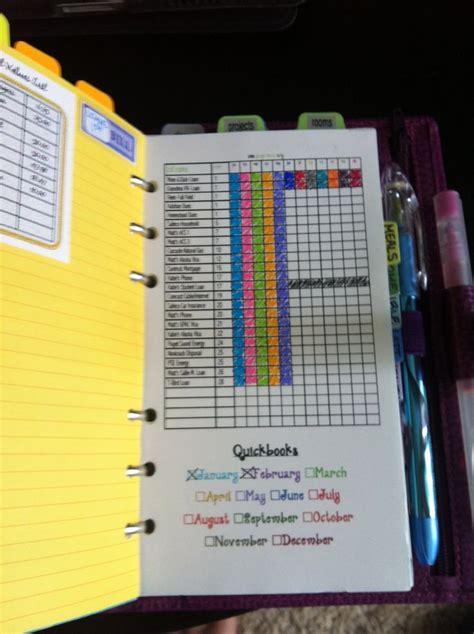 organize bills organizing bills organizer planner filofax pinterest