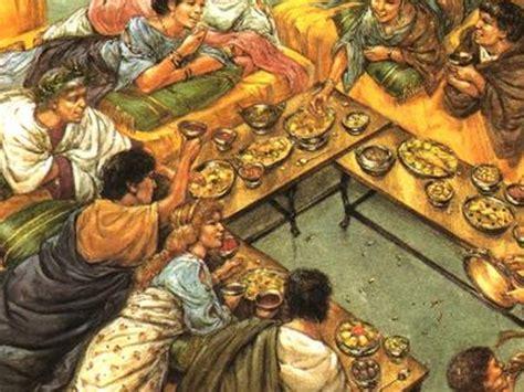 banchetti antica roma antichi romani e cibi storici al museo archeologico