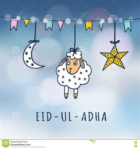 eid ul adha cards template eid illustrations vector stock images 10698