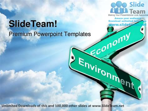 powerpoint theme vs template environment vs economy metaphor power point templates