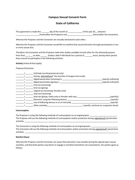 consent templates fillable printable  forms