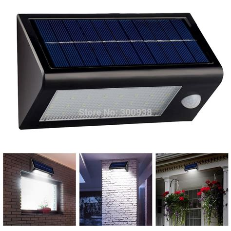 bright 32 led solar powered motion sensor wall l