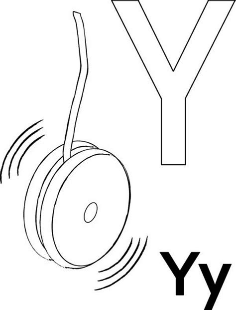 Phonics Letter Y Song Y Is For Yo Coloring Sheets For Letter Y Yellow