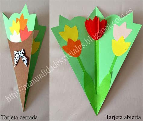 tarjetas en forma de taza manualidades reciclables tarjeta tulipanes para el dia de la madre plantillas