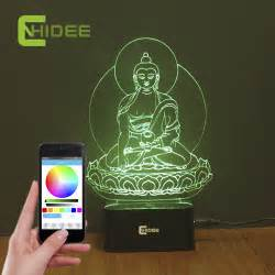 home decor vendors aliexpress com buy cnhidee children s night light buddha 3d music bluetooth speaker desk table
