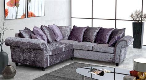 cheap crushed velvet sofa velvet corner sofa large energywarden