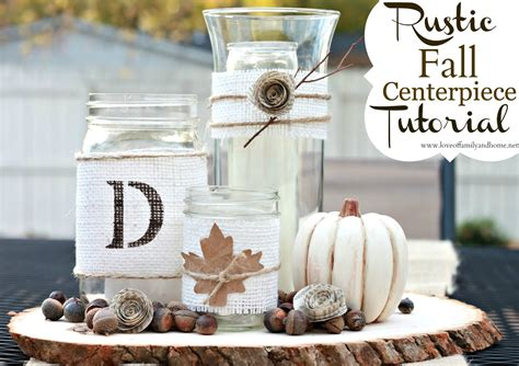 rustic fall centerpiece tutorial of family home