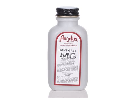 Angelus Dyes Paint Light Grey 3oz Suede Dye Leather