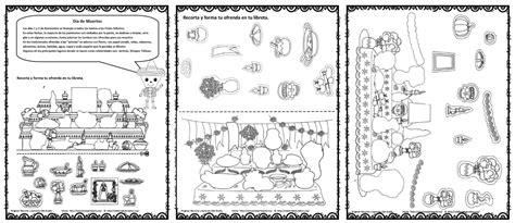 imagenes para colorear ofrendas dia muertos altares y ofrendas del d 237 a de muertos para colorear