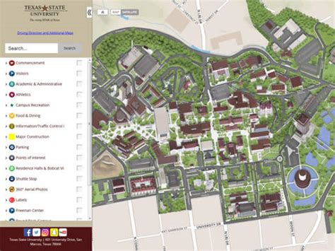 texas state university maps visit cus office of undergraduate admissions texas state university