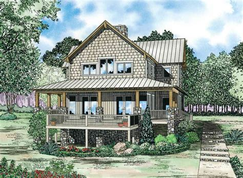 Craftsman House Plans With Wrap Around Porch by Craftsman House Plan With Wrap Around Porch 59966nd