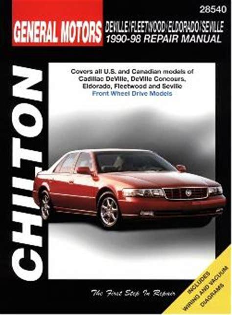 online car repair manuals free 1998 cadillac seville lane departure warning 1990 1998 cadillac deville fleetwood eldorado seville chilton s total car care manual
